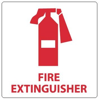 FIRE EXTINGUISHER w/ Picto Sign.