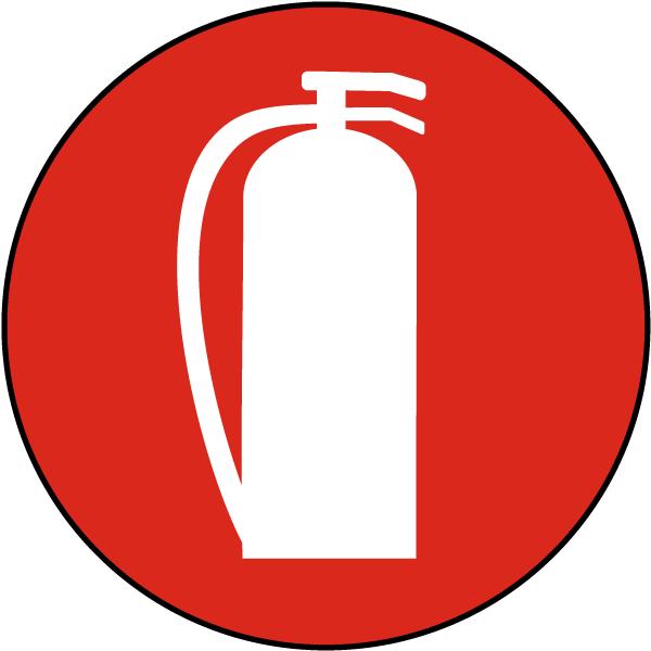 Fire Extinguisher Symbol Floor Sign.