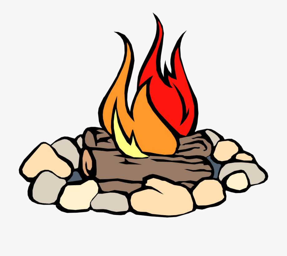 Clipart Of Fire, Pit And Logs , Transparent Cartoon, Free.