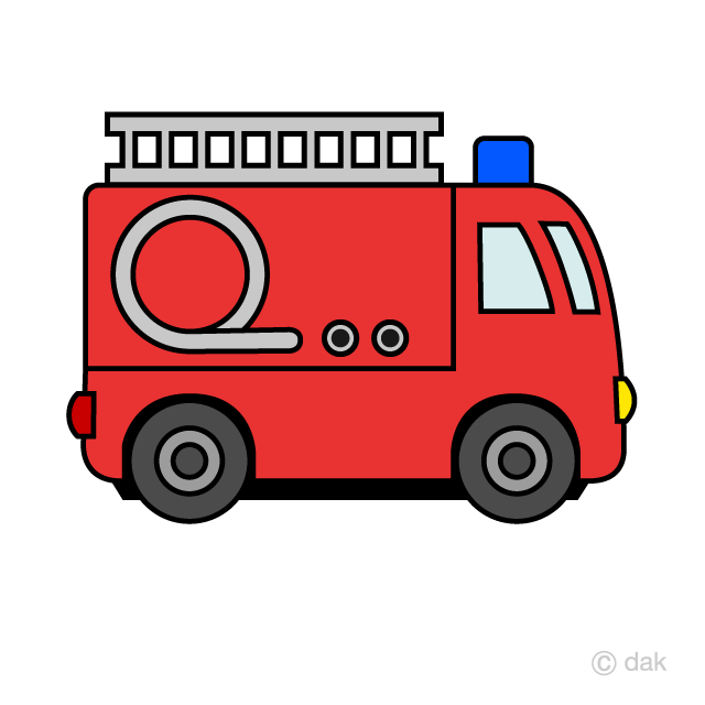 Cute Fire Engine Clipart Free Picture|Illustoon.