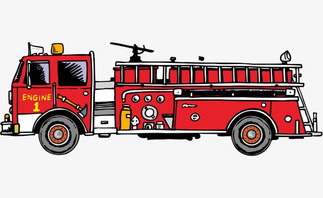 Fire Truck Png Vector Element, Truck Cli #44153.
