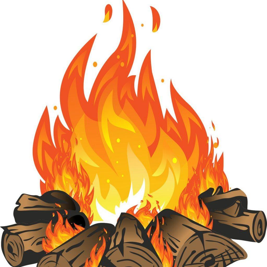 Firewood clipart chimney fire, Firewood chimney fire.