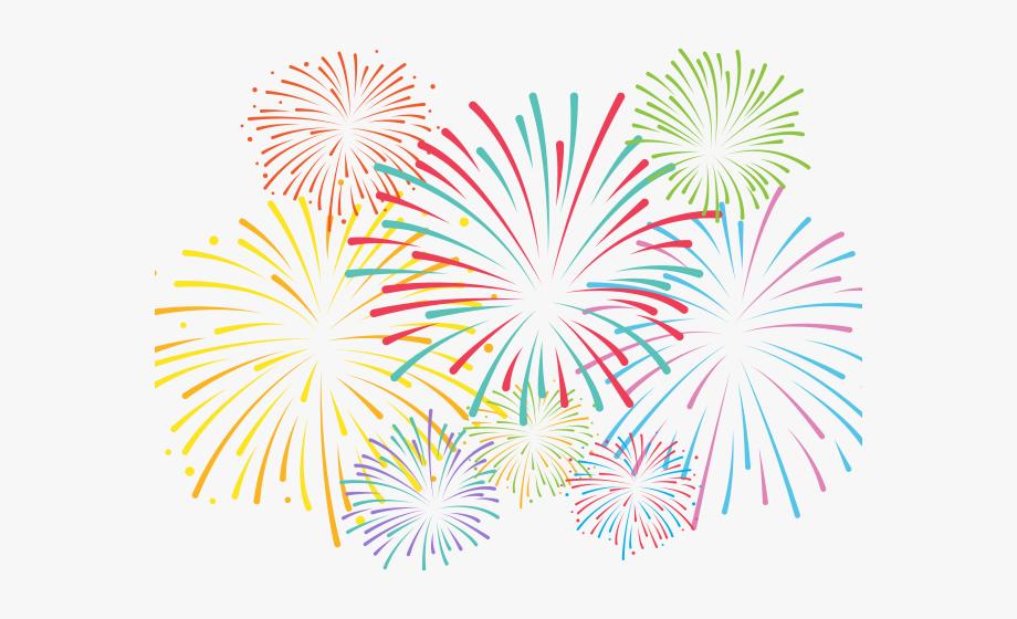 Drawn Fireworks Transparent Background.