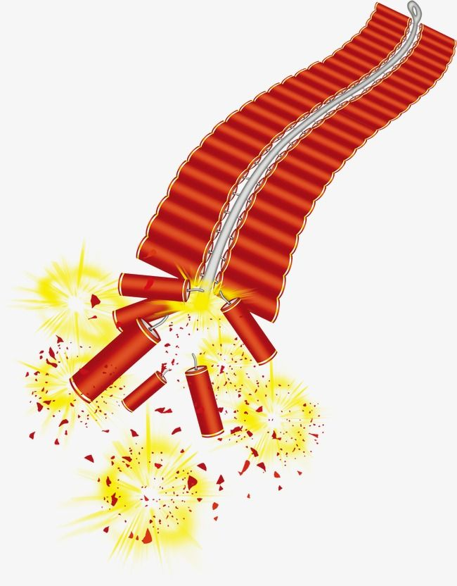 Firecrackers, Clipart, Spring, Chinese New Year PNG.