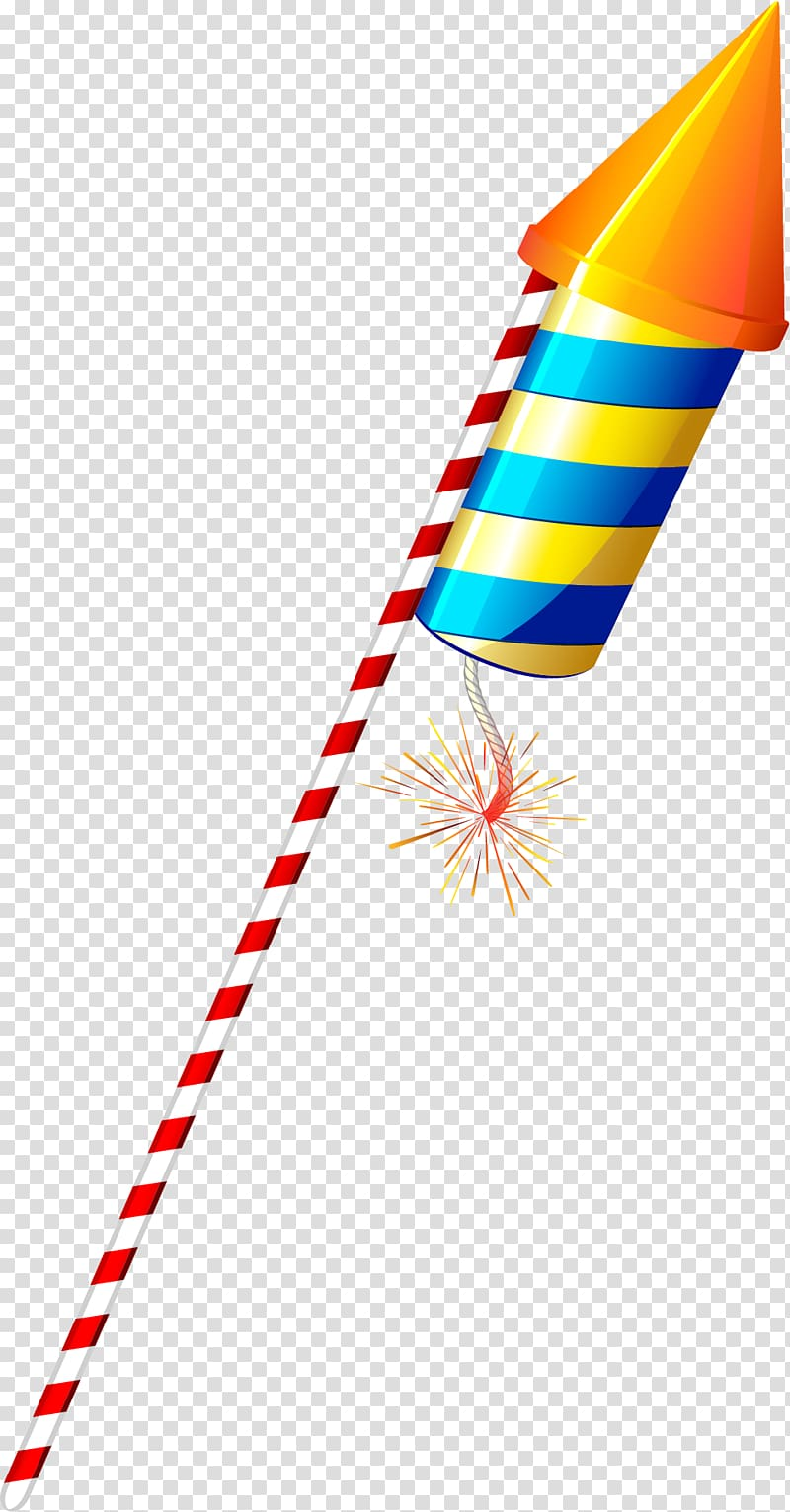 Yellow and blue striped firecracker, Diwali Firecracker.