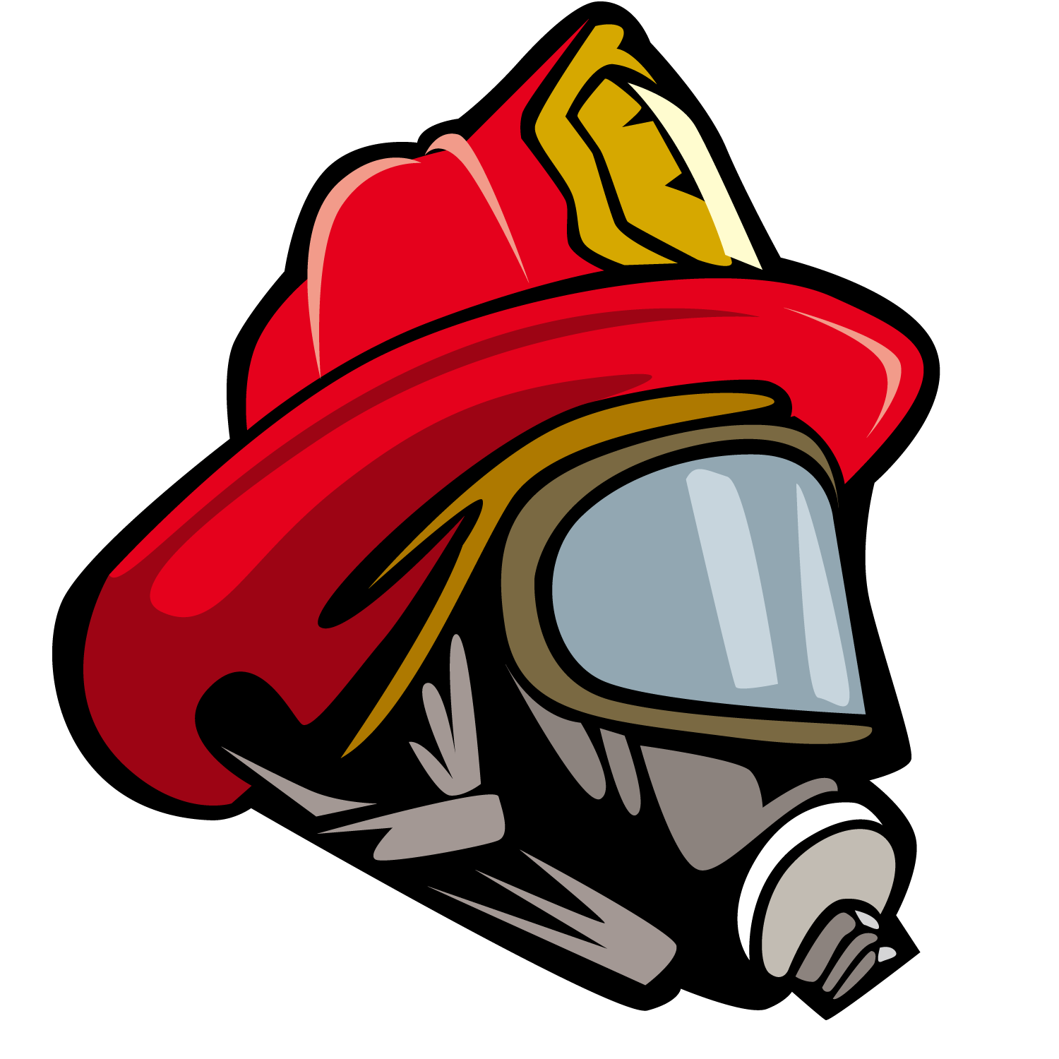 Firefighters helmet Bicycle helmet Clip art.