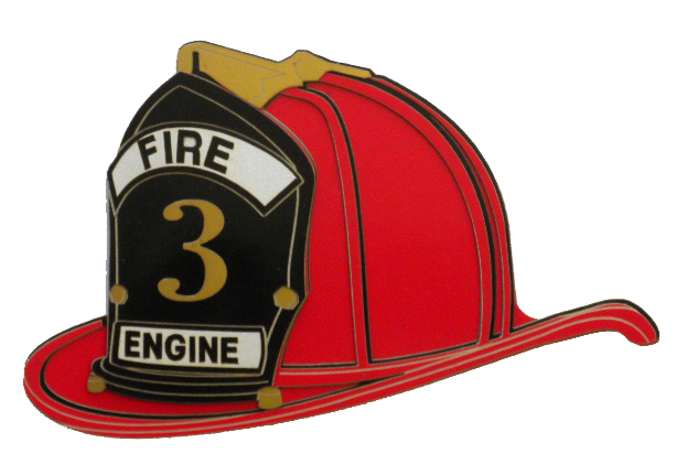 Fire hat firefighter clipart fireman helmet pencil and in color.
