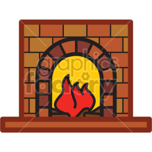 fireplace vector icon . Royalty.