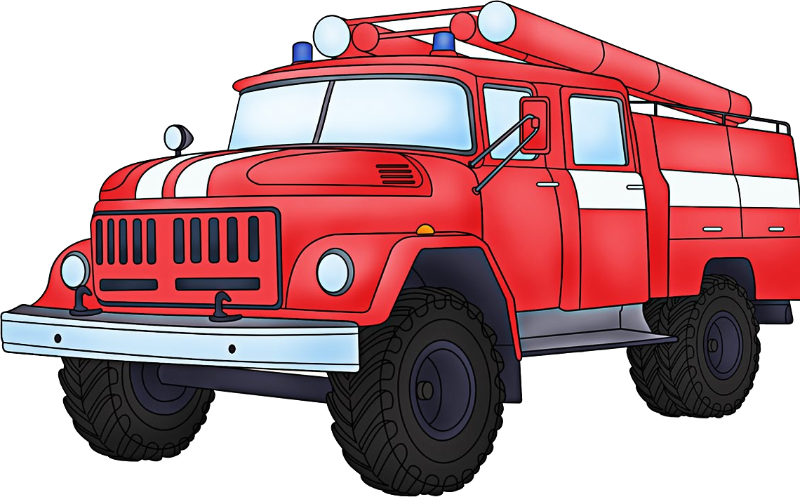 Fire Truck Clipart Transparent Background.