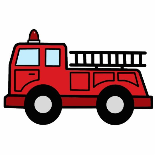 Cartoon Clip Art Firetruck Emergency Vehicle Truck Statuette.