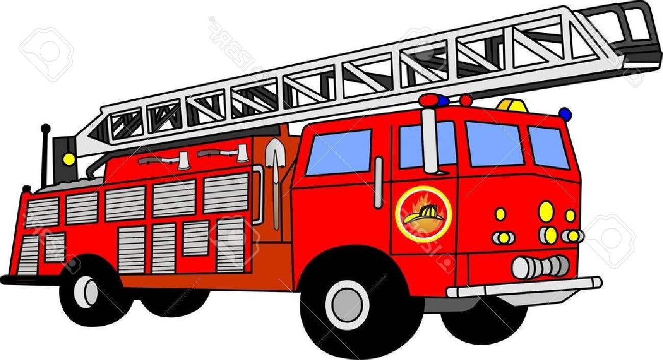 352 Firetruck free clipart.