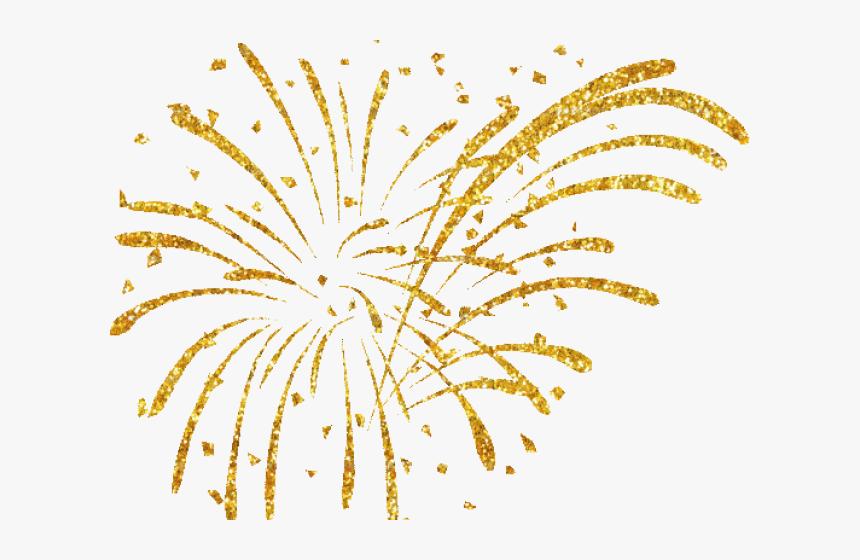 Fireworks Clipart Gold.