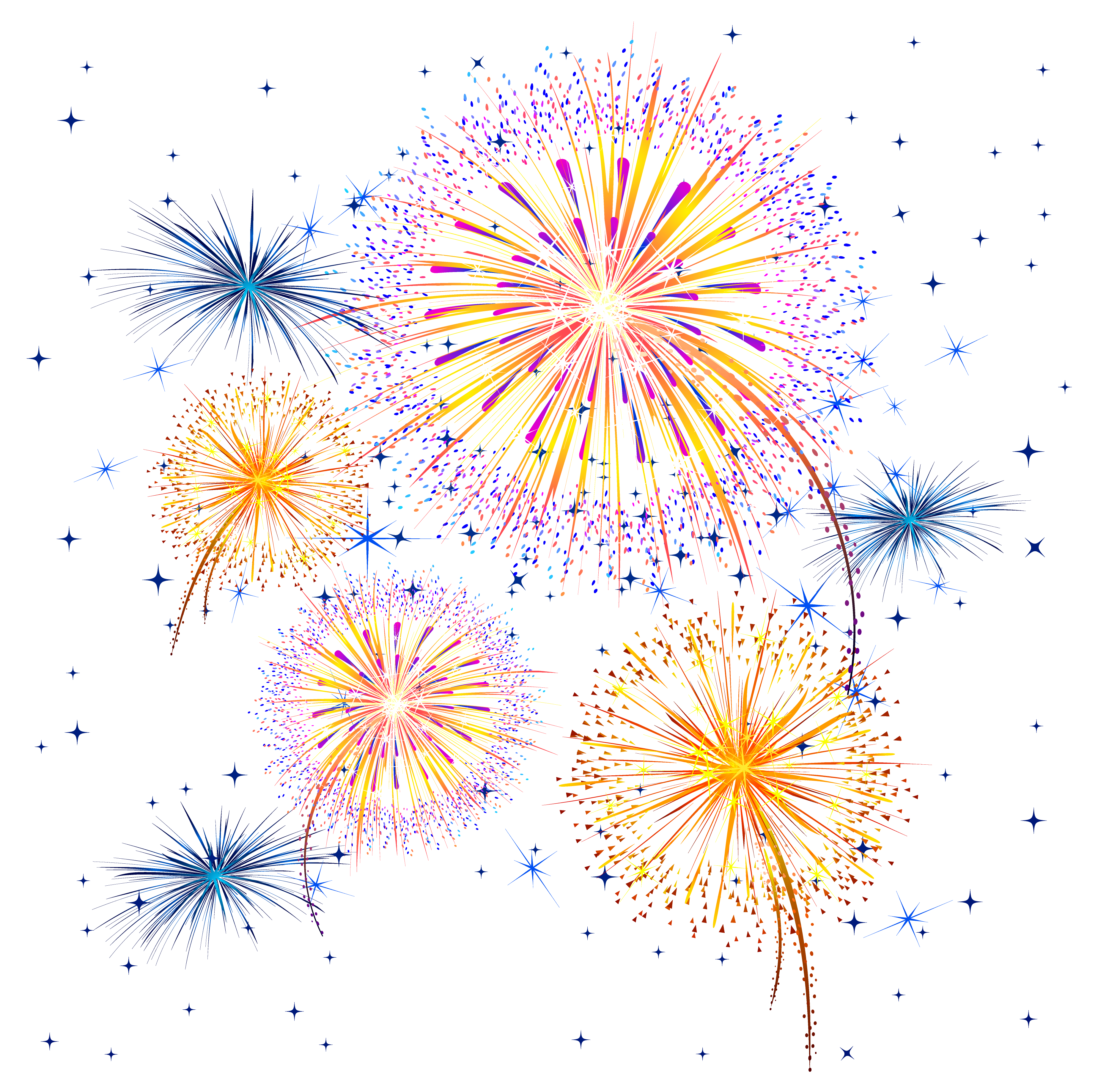 Firework Show PNG Clipart Image.