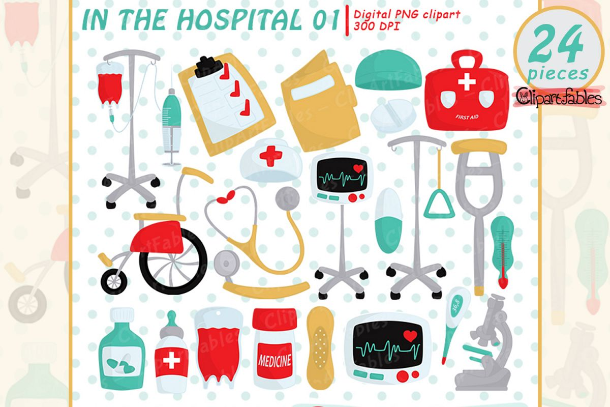 Hospital clipart, First aid clip art.