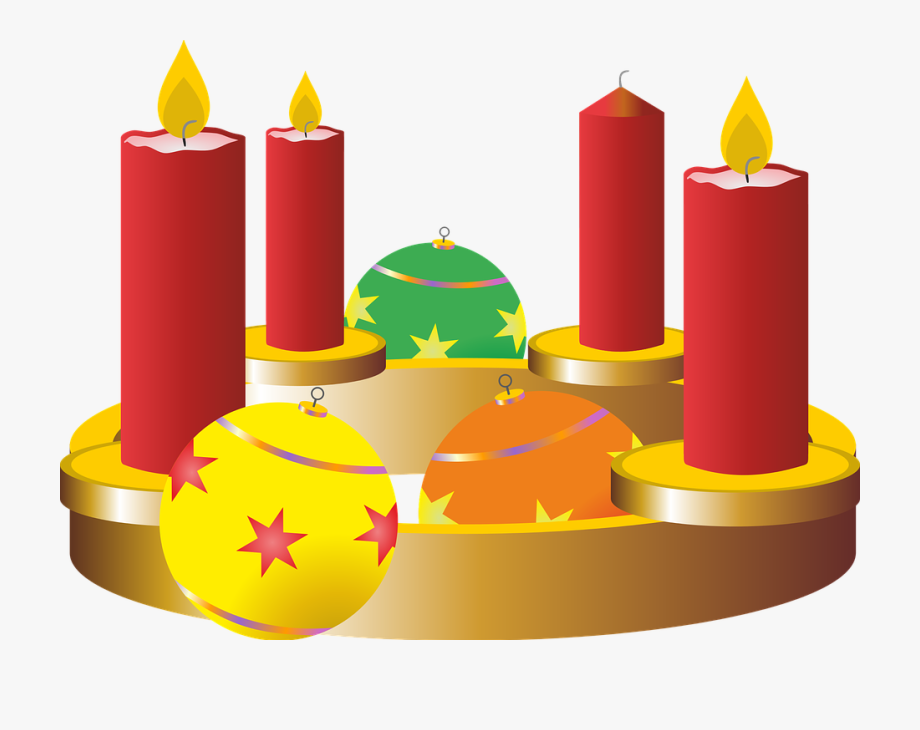 Third Advent Candle Clipart.