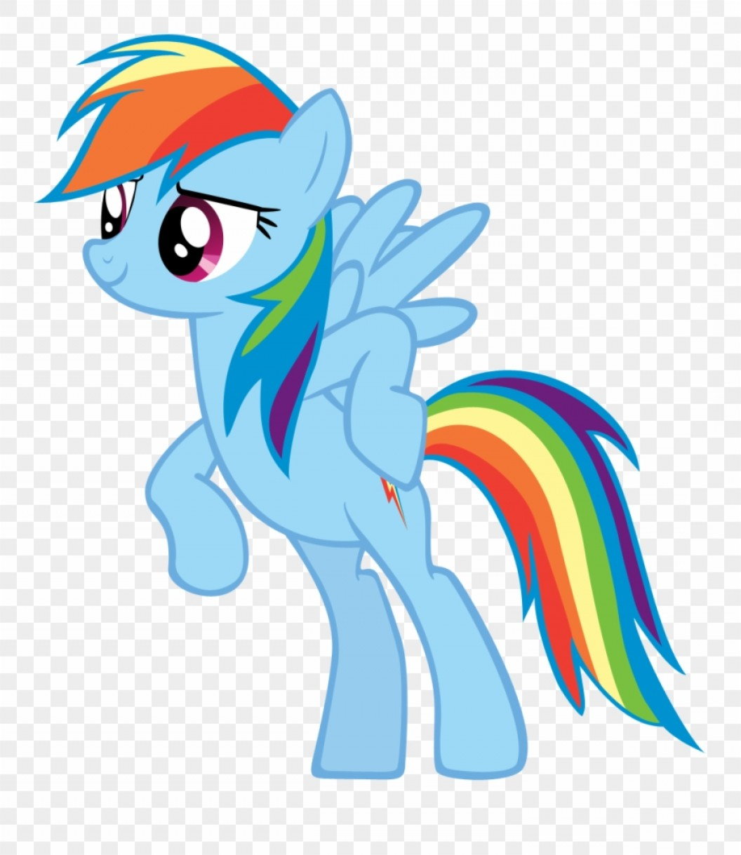 Bjriobc First Vector Mlp Rainbow Dash Happy Clipart.