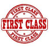 Clip Art of First Class.