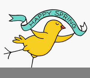 Happy First Day Of Spring Clipart.