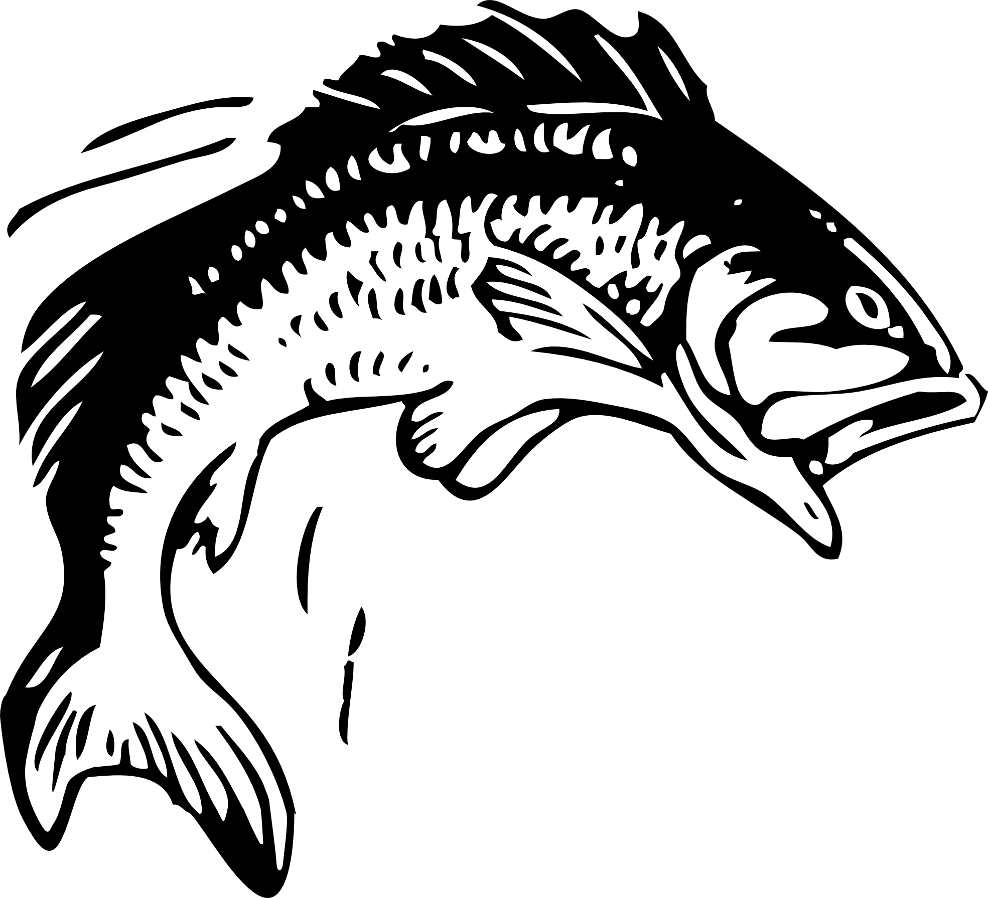 Fish black and white fishing clipart black and white logo.