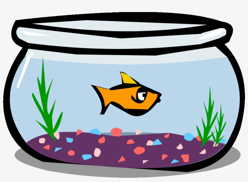 Goldfish In A Bowl Png Black And White Library.