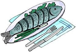 Clipart Fish Dinner.