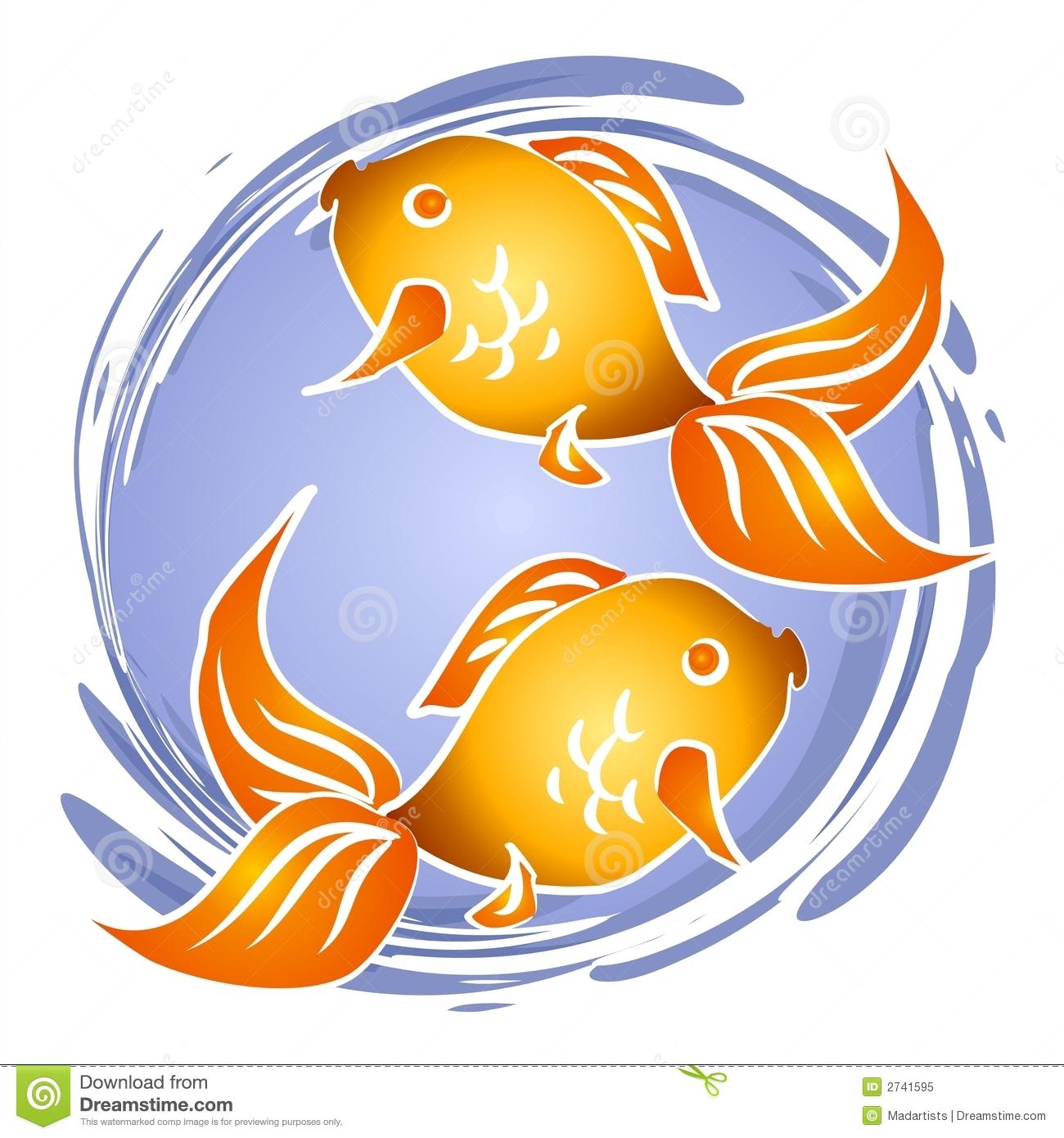 Goldfish Fish Bowl Clip Art Stock Illustration.