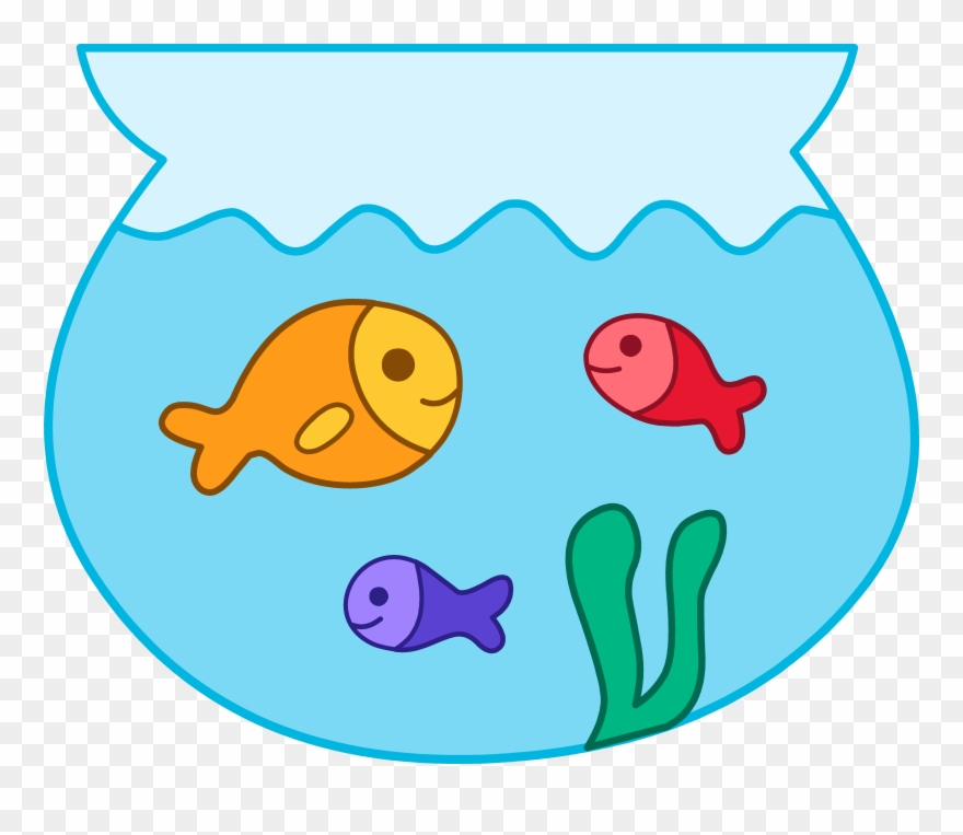 Cute Pet Fishes In Bowl.