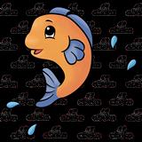 Fish Jumping Clipart.