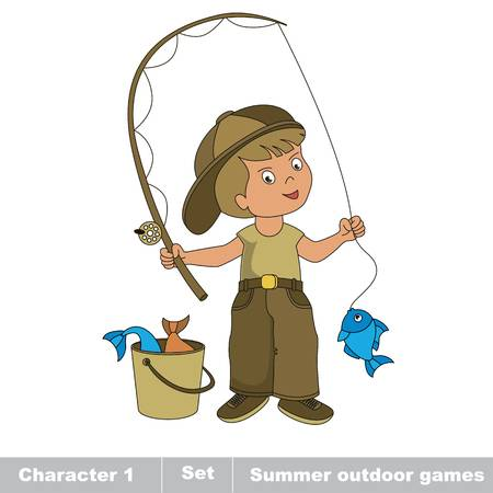 77 Childhood Fisher Stock Vector Illustration And Royalty Free.