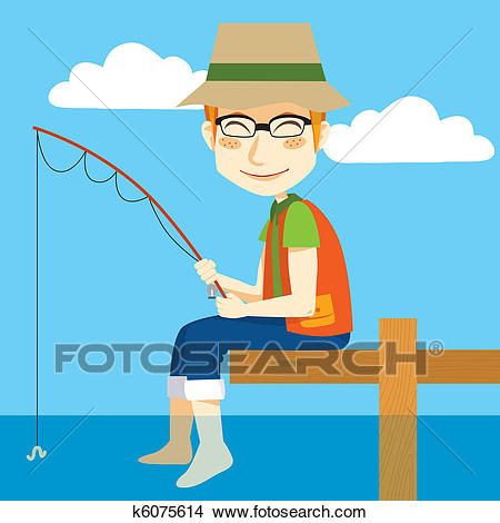 Happy Fisher Clipart.