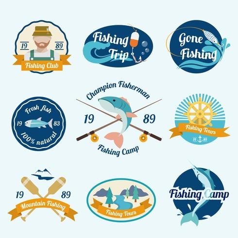 Fishing label set.
