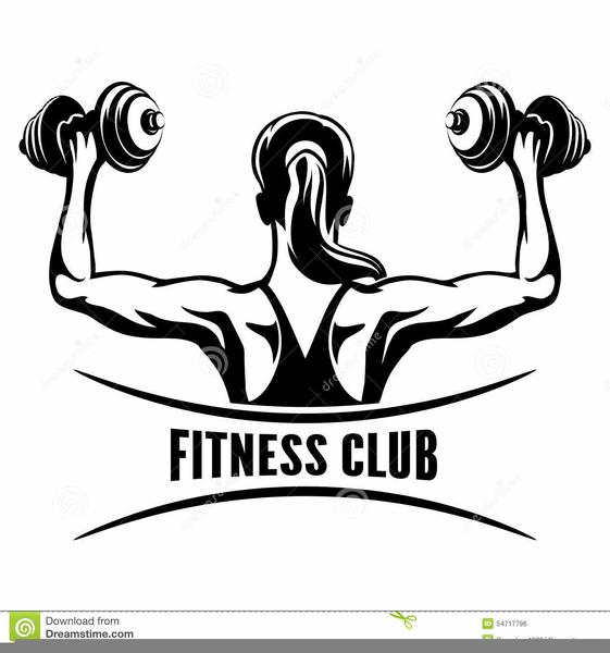 Fitness Center Clipart Logos.
