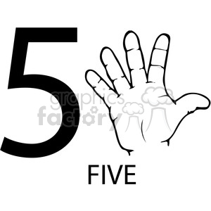 five clipart.