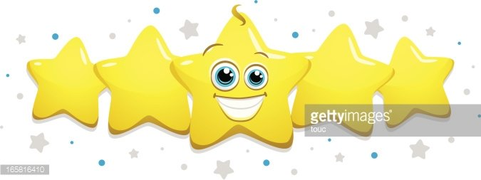 Five Stars Clipart Image.