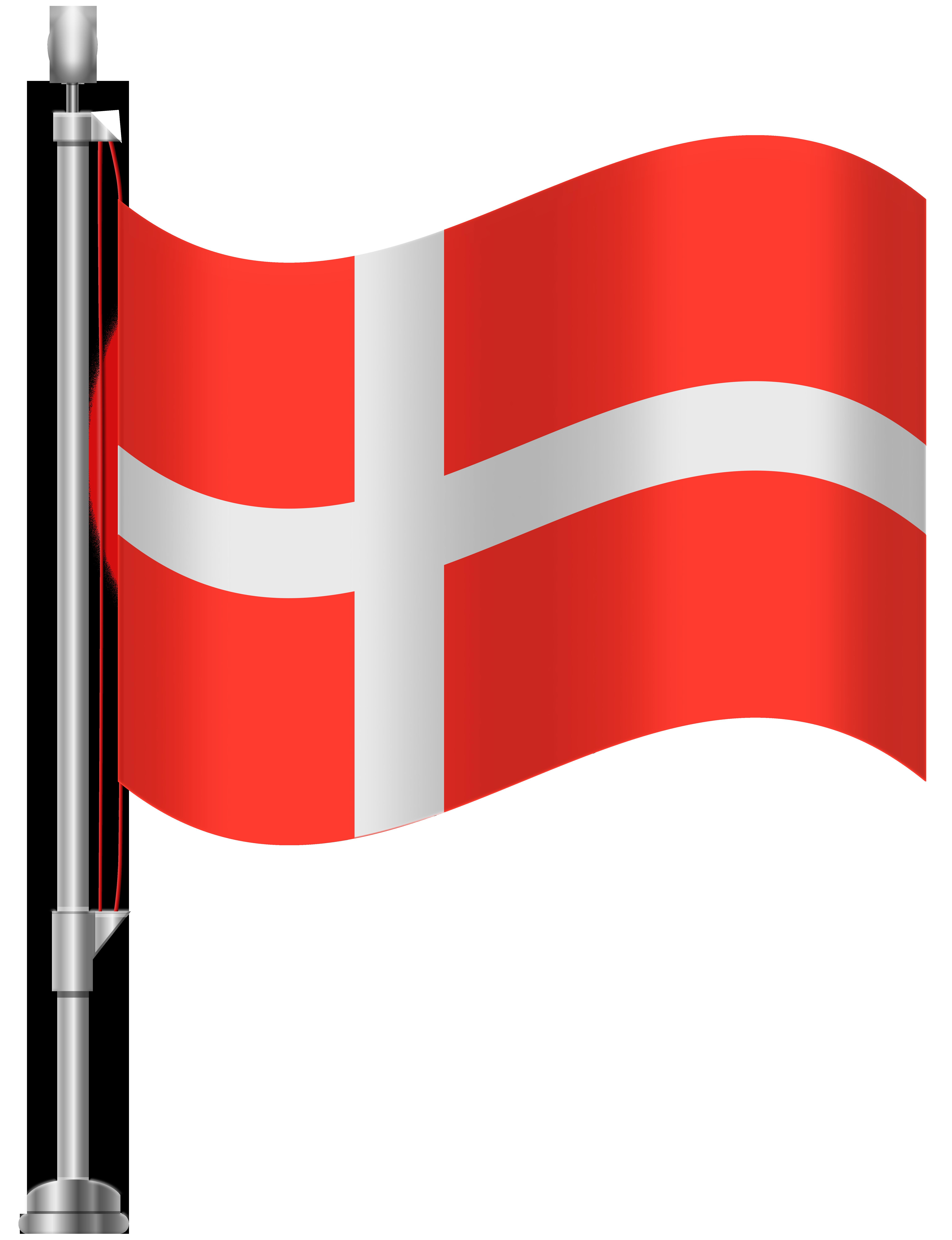 Denmark Flag PNG Clip Art.