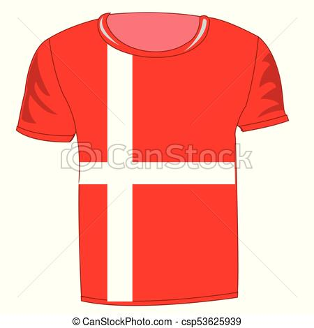 Flag danmark on cloth.