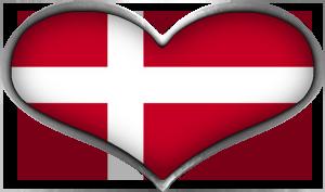Flag Danmark Clipart.