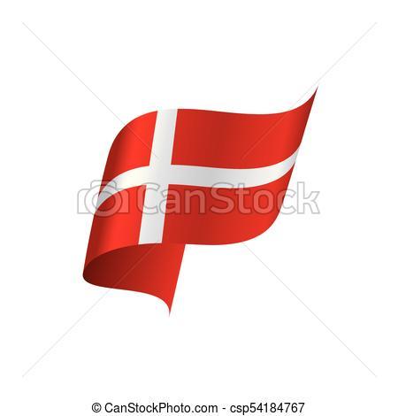 Danmark flag, vector illustration.