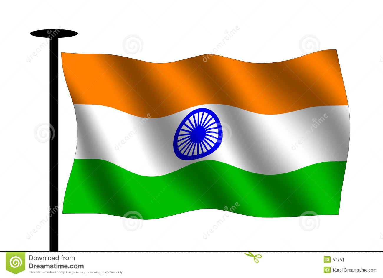 Indian Animated Flag Waving: Clipart Flag Indian
