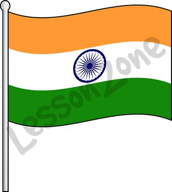Indian Flag Clipart Black And White.