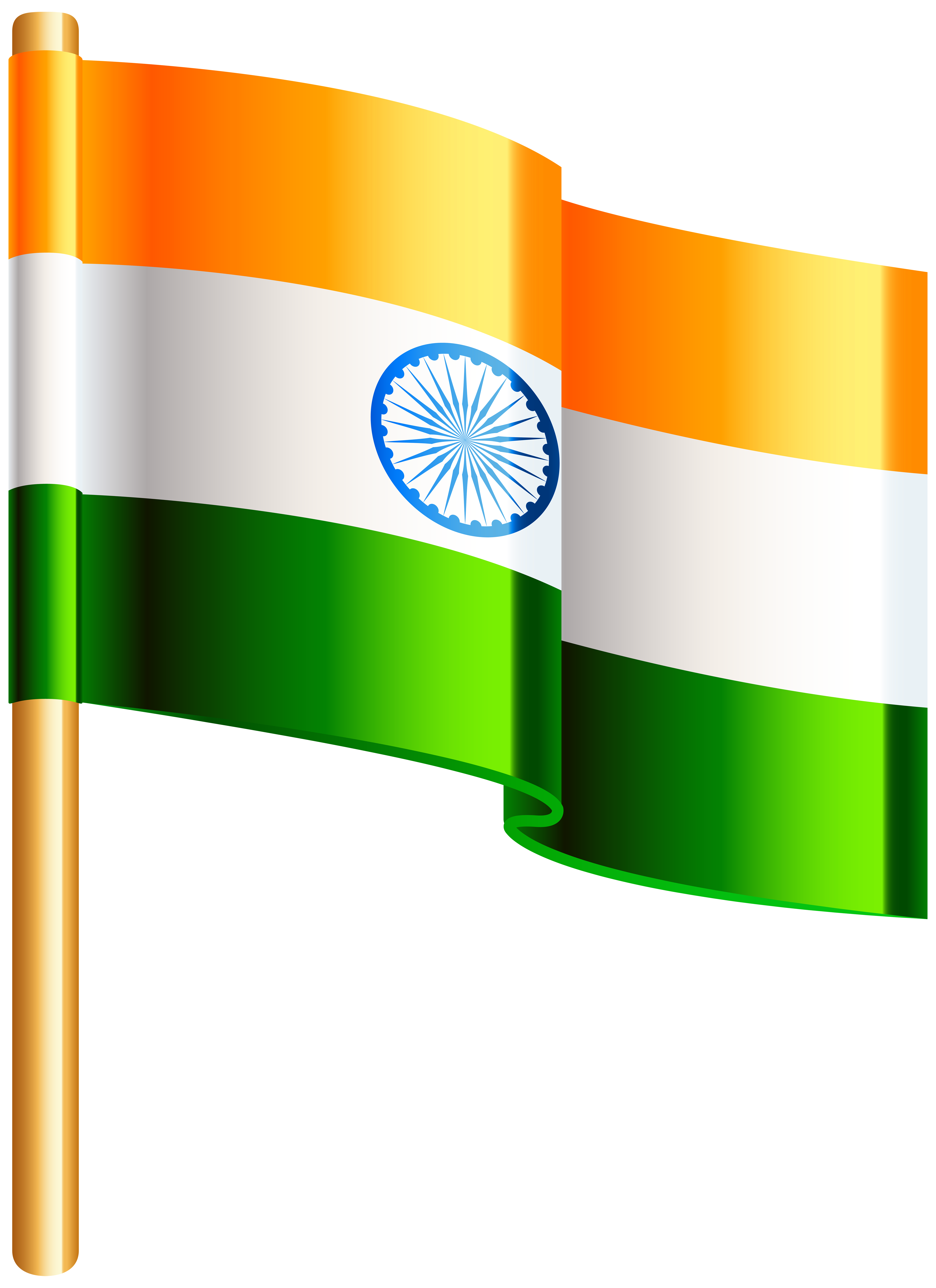 India Flag PNG Clip Art Image.