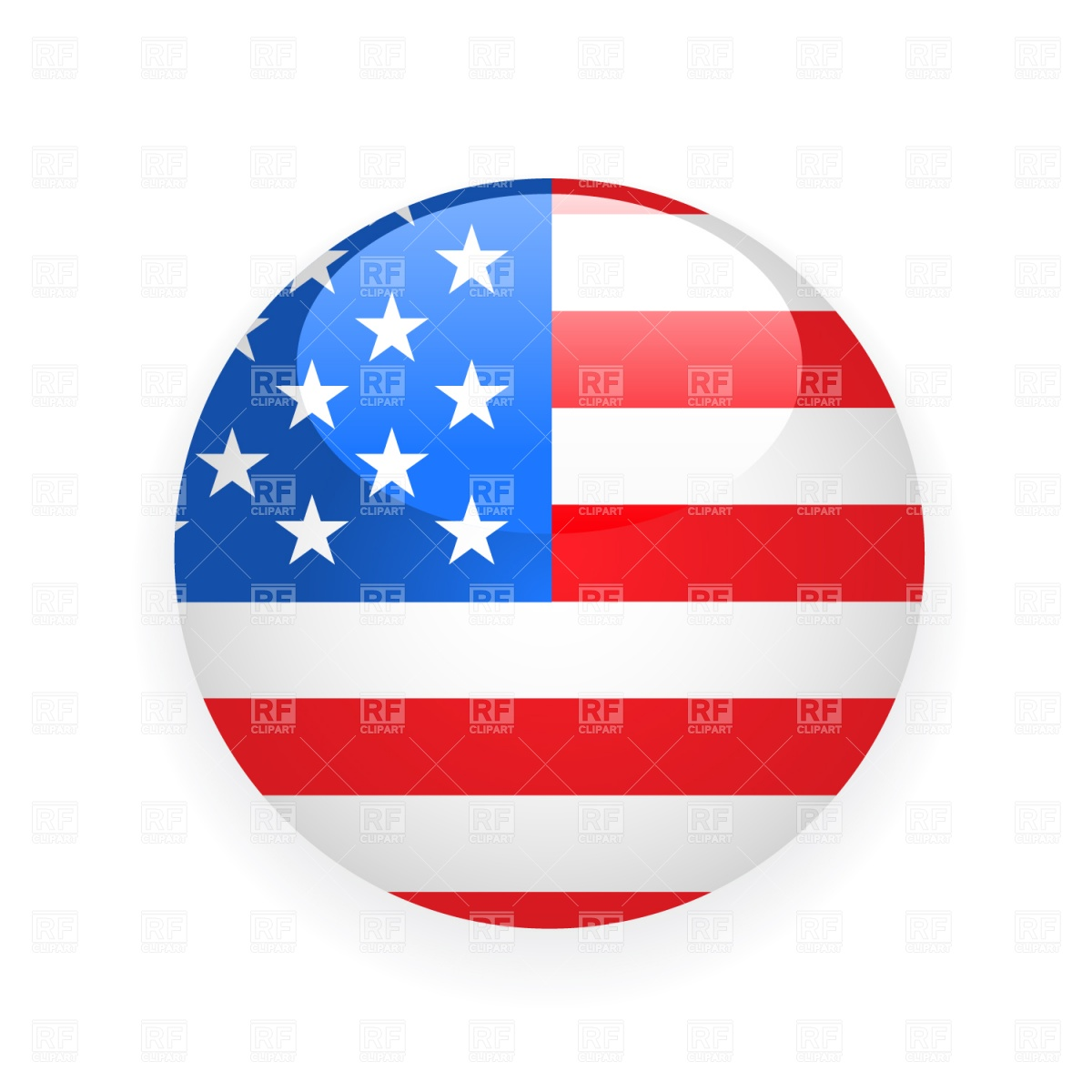 USA button flag Stock Vector Image.