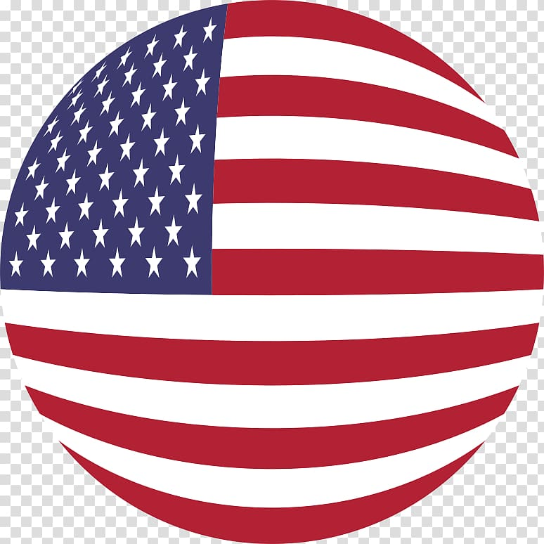 Flag of the United States Globe , american transparent background.