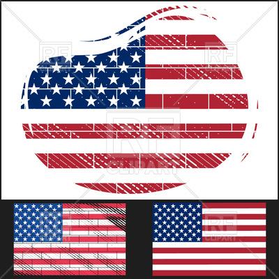 Shabby flag of USA Vector Image.