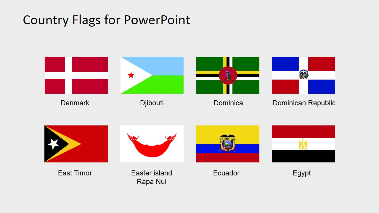 Country Flags Clipart for PowerPoint (C to D).