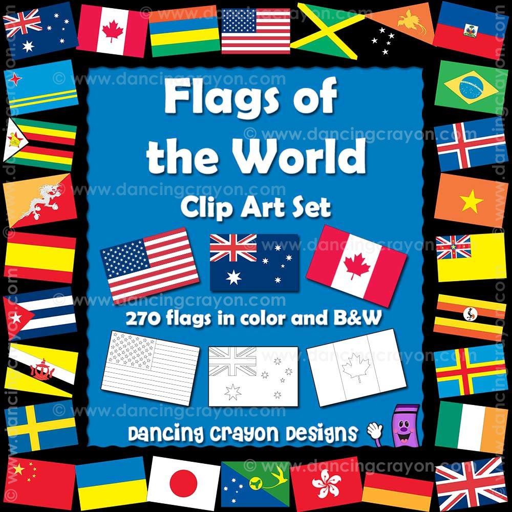 Flags of the World Clip Art: 270 World Flags.