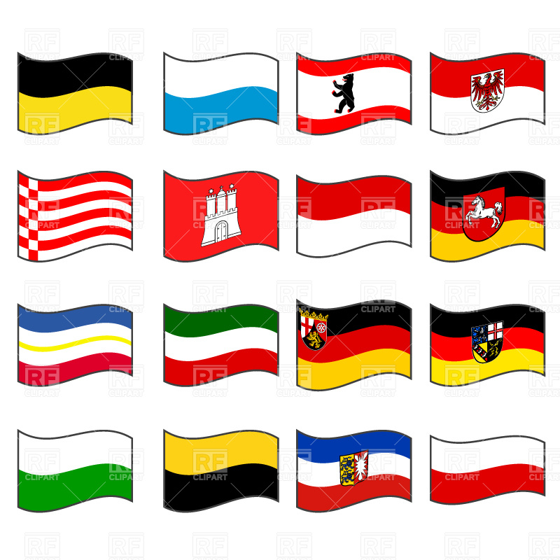 Germany civil flags collection Stock Vector Image.