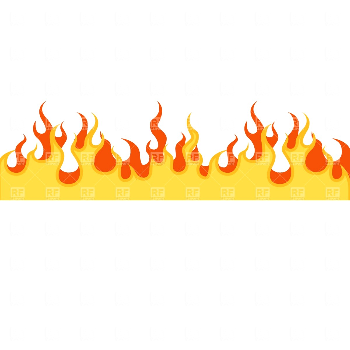 Flame clipart border 4 » Clipart Station.