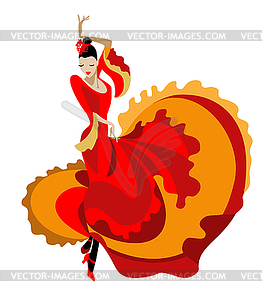 Haired flamenco dancer.
