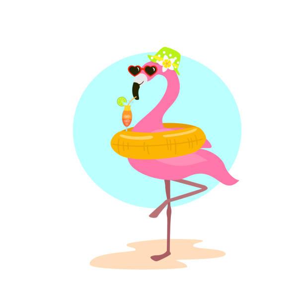 Best Pink Flamingo Sunglasses Illustrations, Royalty.